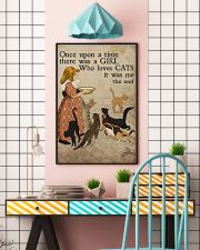 Cat Once Upon A Time Girl Loves Cats 2 Poster  11x17 Poster lifestyle-poster-6