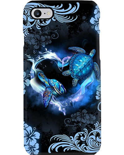 Turtle Phonecase Heart Blue