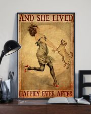 Gold Labrador And She Lived Happily Ever After 11x17 Poster lifestyle-poster-2