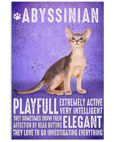 Abyssinian Cat Vintage Poster