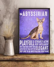 Abyssinian Cat Vintage Poster 11x17 Poster lifestyle-poster-3