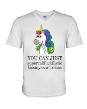 Unicorn You Can Just V-Neck T-Shirt thumbnail