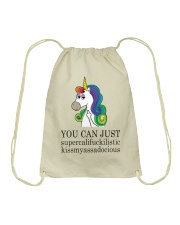 Unicorn You Can Just Drawstring Bag thumbnail