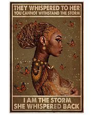 BLACK I AM THE STORM 11x17 Poster front
