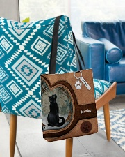 Cat Once Upon A Time Tote Bag All-over Tote aos-all-over-tote-lifestyle-front-01