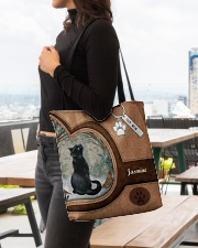 Cat Once Upon A Time Tote Bag All-over Tote aos-all-over-tote-lifestyle-front-04