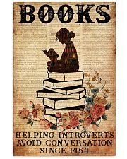 BOOK READING BOOKS HELPING INTROVERTS AVOID 11x17 Poster front