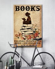 BOOK READING BOOKS HELPING INTROVERTS AVOID 11x17 Poster lifestyle-poster-7
