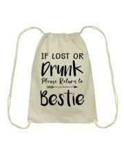 Wine If Lost Or Drunk Drawstring Bag thumbnail