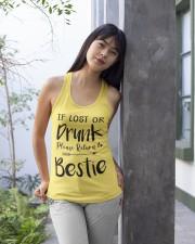Wine If Lost Or Drunk Ladies Flowy Tank apparel-ladies-flowy-tank-lifestyle-front-25