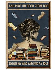 And Into The Book Store I Go 11x17 Poster front
