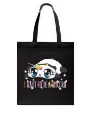 I WANT TO BE A UNICORN Tote Bag thumbnail