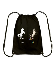 UNICORN YOU AND ME Drawstring Bag thumbnail