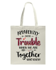 Right Trouble Wine Tote Bag thumbnail