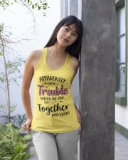 Right Trouble Wine Ladies Flowy Tank apparel-ladies-flowy-tank-lifestyle-front-25