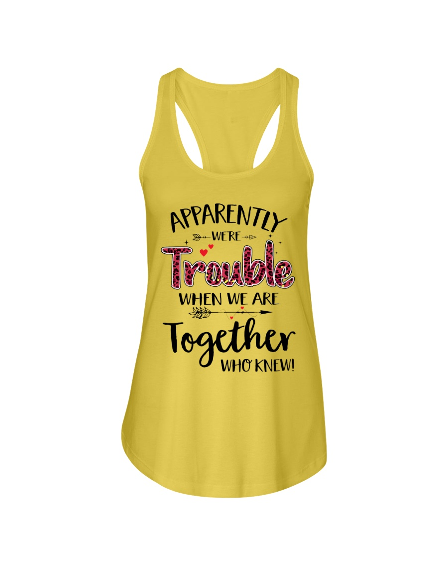 Right Trouble Wine Ladies Flowy Tank