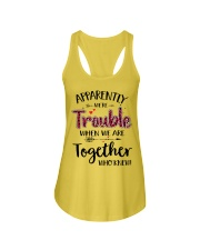 Right Trouble Wine Ladies Flowy Tank front
