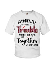 Right Trouble Wine Youth T-Shirt thumbnail