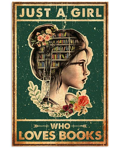 Book Just A Girl Who Loves Book Old Vinage
