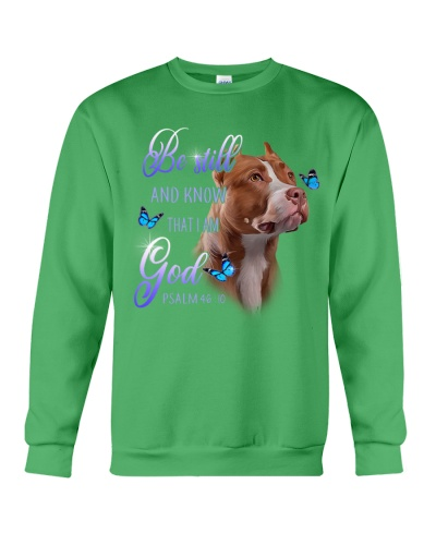 Brown Pit Bull Be Still And Know That I Am God
