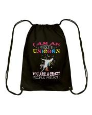I am an awesome unicorn Drawstring Bag thumbnail