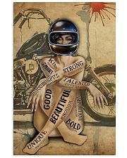 MOTORCYCLE STRONG BEAUTIFUL UNIQUE GOD SAYS I AM 11x17 Poster front