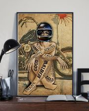 MOTORCYCLE STRONG BEAUTIFUL UNIQUE GOD SAYS I AM 11x17 Poster lifestyle-poster-2