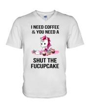 Unicorn Fucupcake V-Neck T-Shirt thumbnail