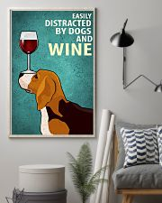 Beagle Dog And Wine Vintage Poster 11x17 Poster lifestyle-poster-1