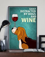 Beagle Dog And Wine Vintage Poster 11x17 Poster lifestyle-poster-2