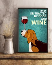 Beagle Dog And Wine Vintage Poster 11x17 Poster lifestyle-poster-3