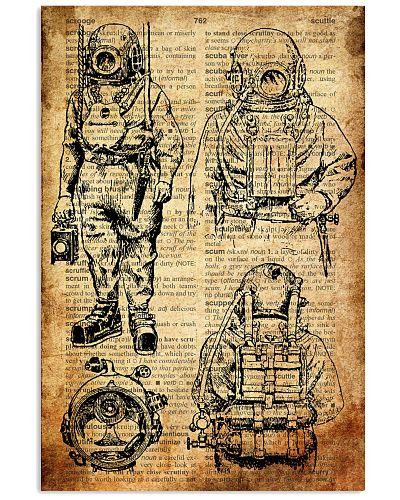 Scuba Diving Retro Poster 3