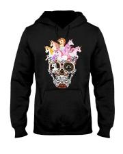 Unicorn Skull Hooded Sweatshirt thumbnail