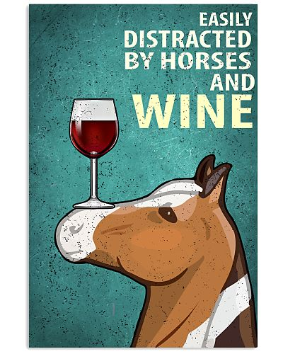 Horse And Wine Vintage Poster