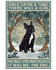French Bulldog Black Once Upon A Time  11x17 Poster front
