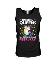 Unicorn Queens Are Born In February Unisex Tank thumbnail