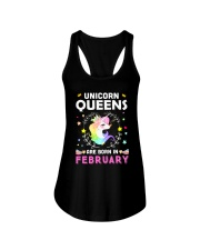 Unicorn Queens Are Born In February Ladies Flowy Tank thumbnail