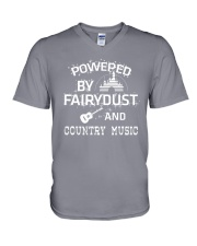 Powered By Country Music V-Neck T-Shirt thumbnail