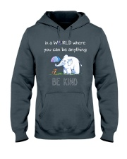 Teacher- be kind Hooded Sweatshirt front