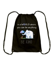 Teacher- be kind Drawstring Bag thumbnail