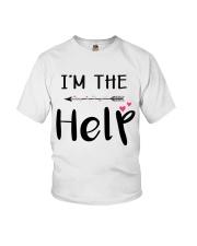 Wine I'm The Help Youth T-Shirt thumbnail
