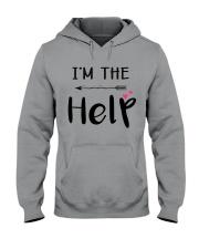 Wine I'm The Help Hooded Sweatshirt thumbnail