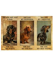 Dachshund You Are Not Just A Dog You Are My Sanity 17x11 Poster front