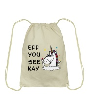 Unicorn Eff You See Kay Drawstring Bag thumbnail