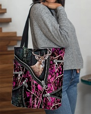 DEER HUNTING CAMOUFLAGE BEAUTY TOTE BAG All-over Tote aos-all-over-tote-lifestyle-front-09