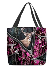 DEER HUNTING CAMOUFLAGE BEAUTY TOTE BAG All-over Tote front