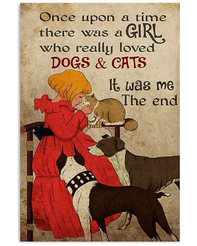 Cat Once Upon A Time There Was A Girl Poster