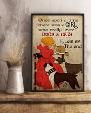 Cat Once Upon A Time There Was A Girl Poster 16x24 Poster lifestyle-poster-3