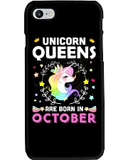 Unicorn Queens Are Born In October Phone Case thumbnail