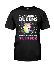 Unicorn Queens Are Born In October Classic T-Shirt thumbnail